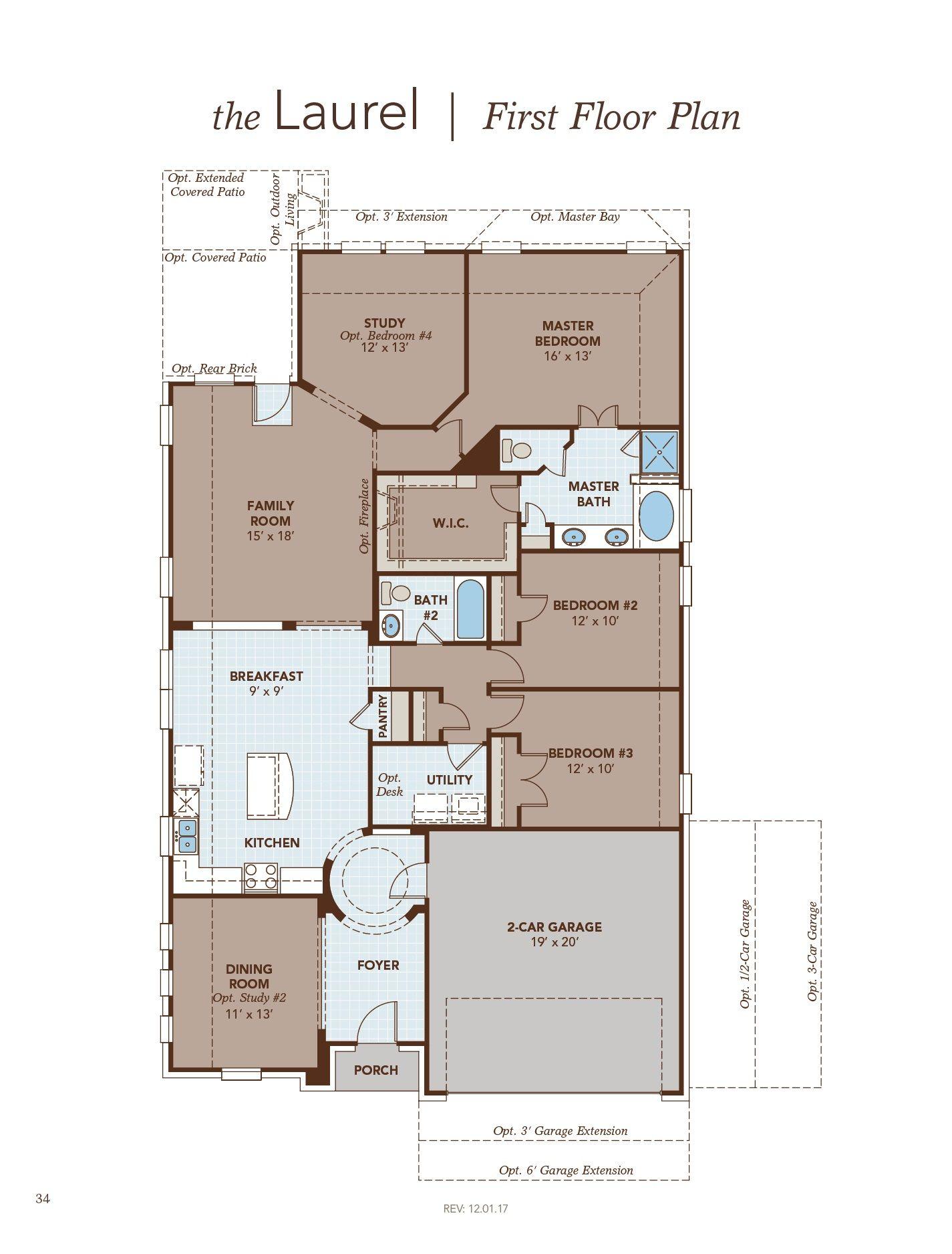 Laurel First Floor Plan