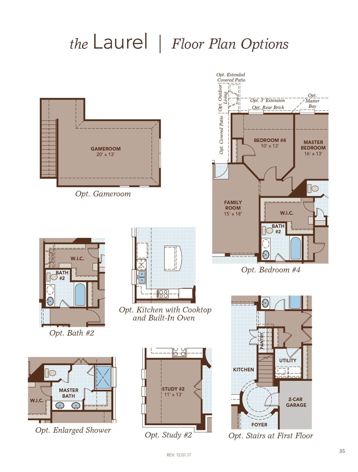Laurel Floor Plan Options