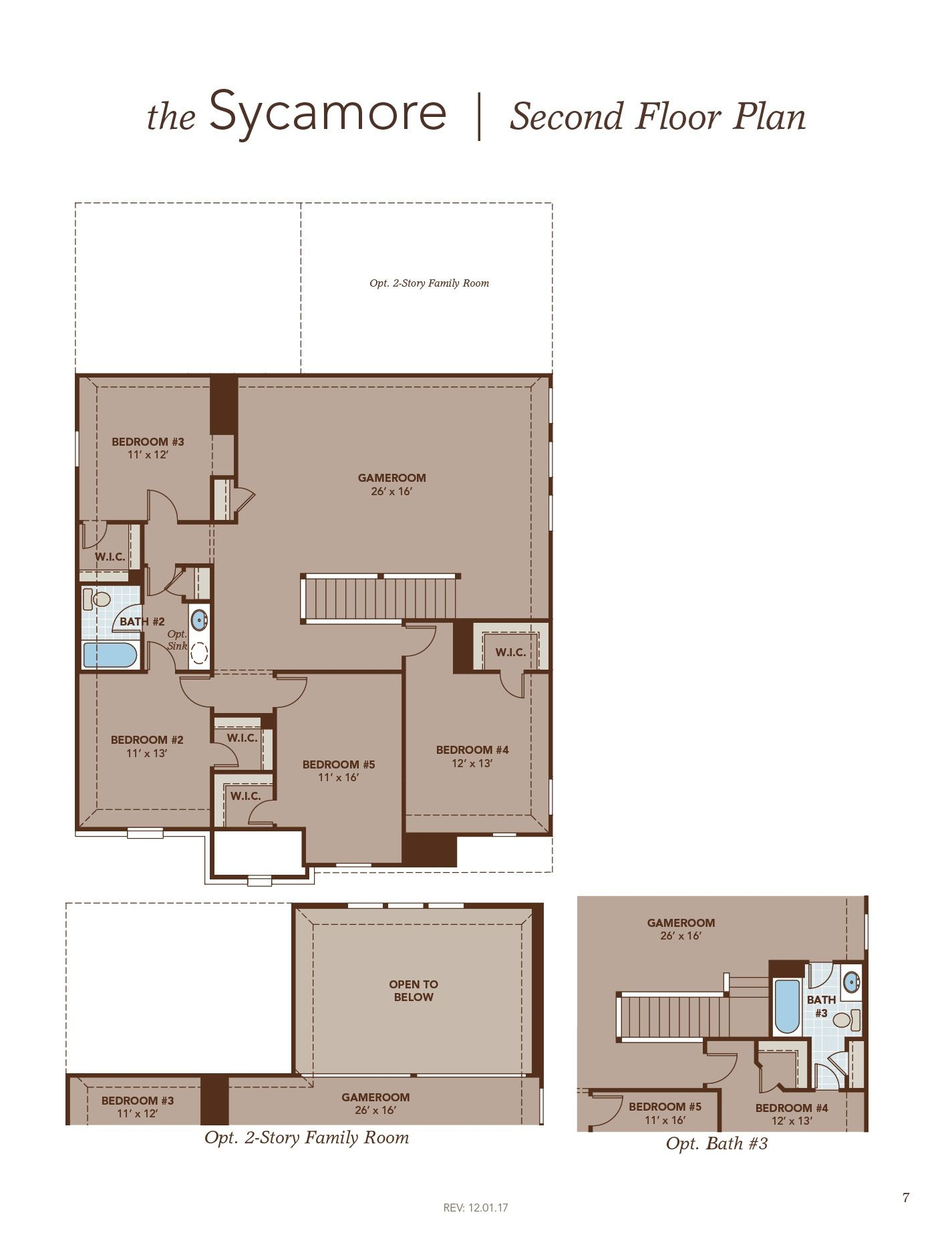 Sycamore Second Floor Plan