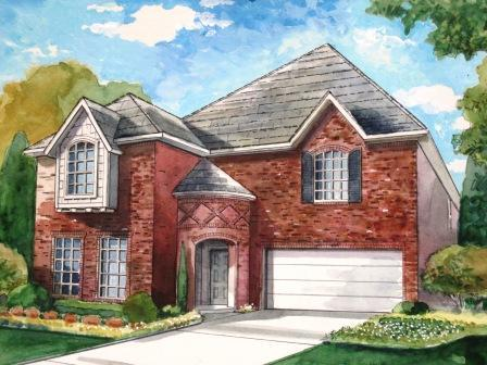 Villas at Fossil Creek by HD Homes in Fort Worth Texas