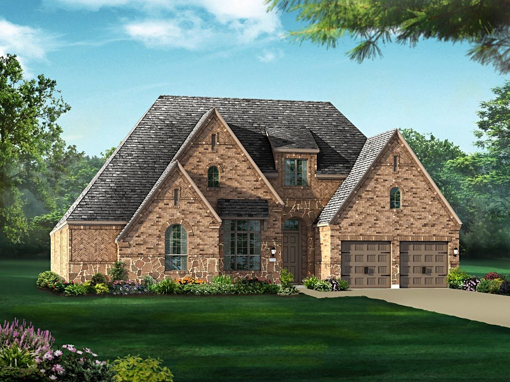 292D (with Stone, Media ILO Gameroom option) - Oakhurst 75s: Porter, TX - Highland Homes