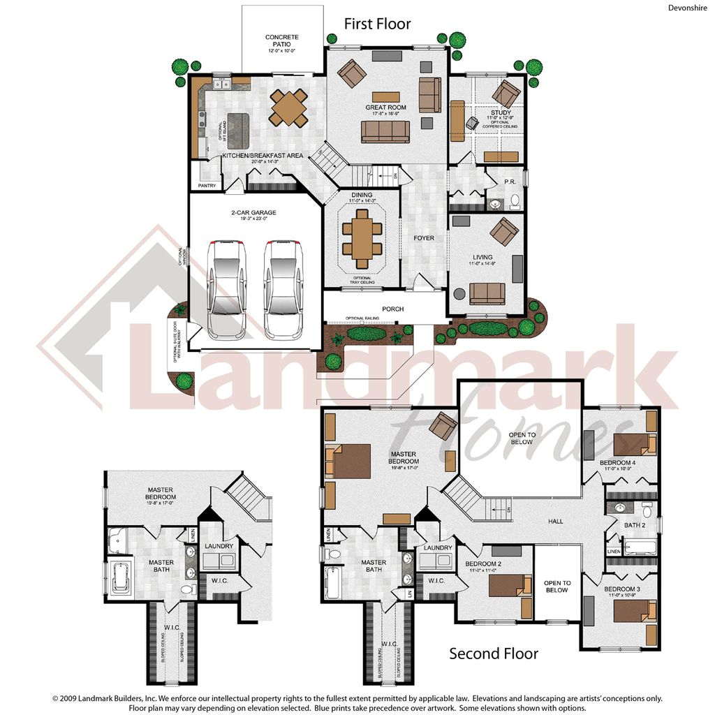 Devonshire home plan by landmark homes in ridgewood for Devonshire floor plan