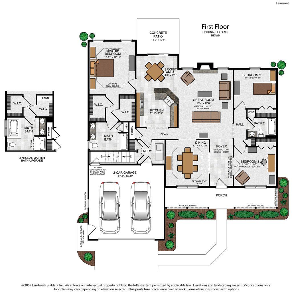 Fairmont Home Plan By Landmark Homes In Stonecroft Village