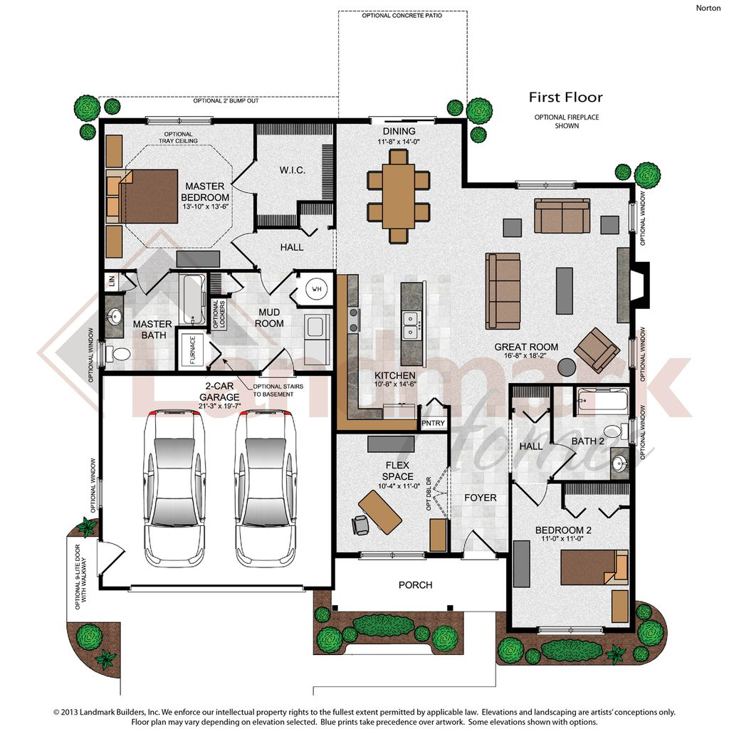 Norton home plan by landmark homes in available plans for Landmark home plans