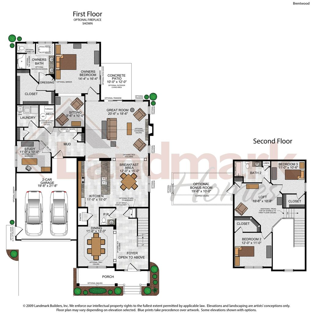 The brentwood home plan by landmark homes in home towne for Brentwood floor plan