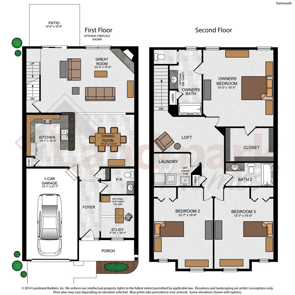 Dartmouth Home Plan By Landmark Homes In The Townes At