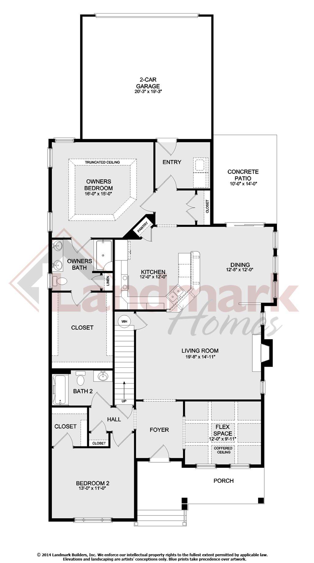 The james model at 533 landon cr for Landon homes floor plans