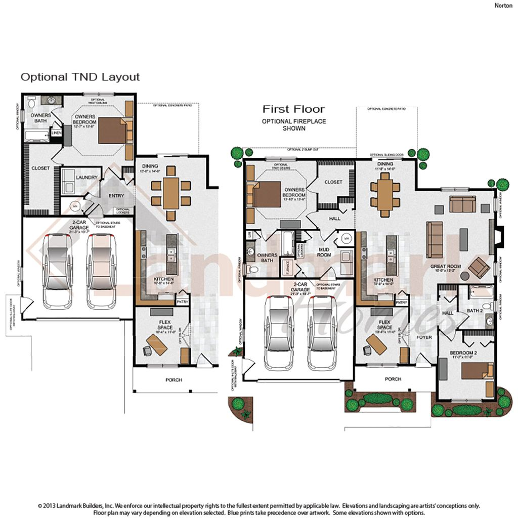 Norton home plan by landmark homes in sweetbriar 55 living for Landmark home plans