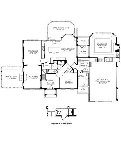First floor plan with options