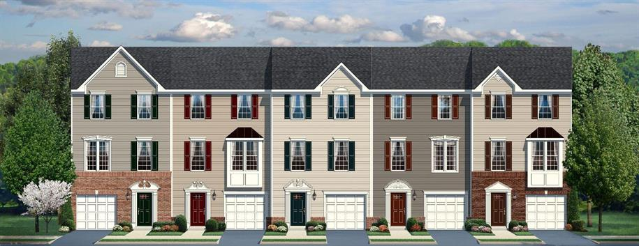 Strauss With Garage - Riverwood Townhomes: Charlottesville, VA - Ryan Homes