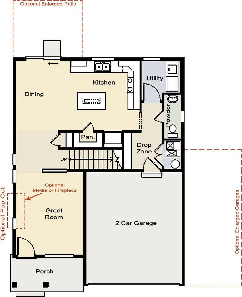 Oakwood homes oakwood homes platte floor plan for Oakwood floor plans
