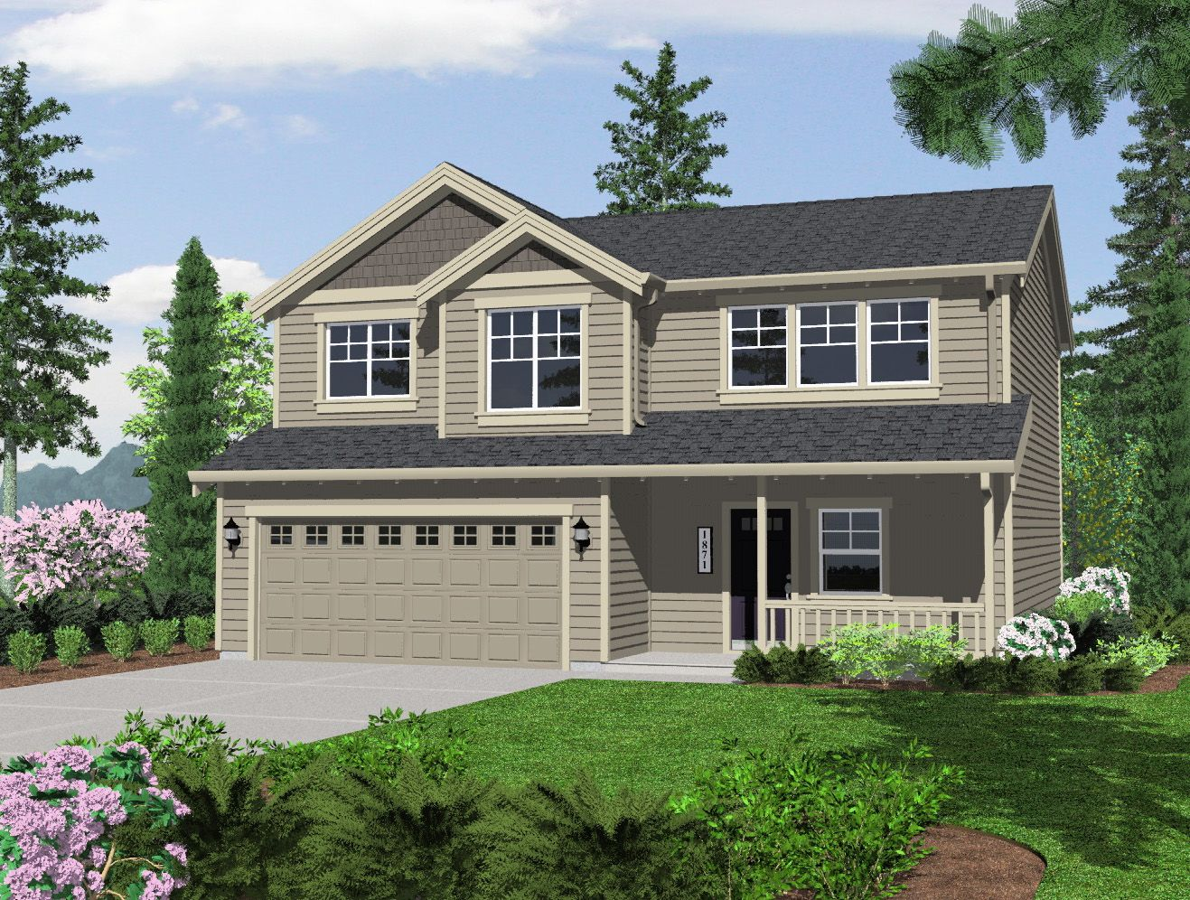 Olin homes llc parkview trails 2909 1053979 battle ground wa new home for sale homegain - Two story holiday homes ...