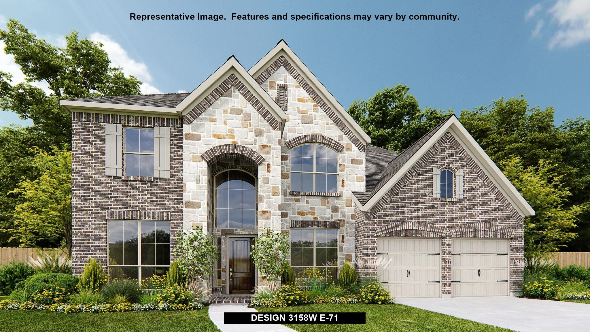 3158W - Shadow Creek Ranch - Edgewater 60': Pearland, TX - Perry Homes