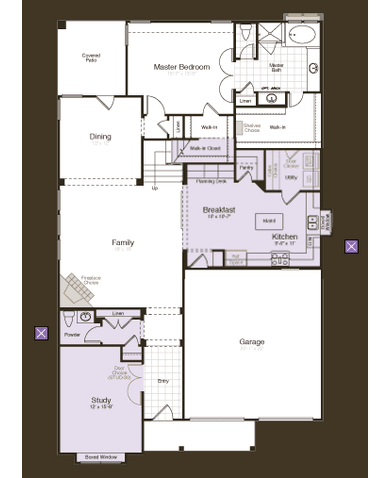 Trio - Opt Study, Half-Bath and Alternate Kitchen