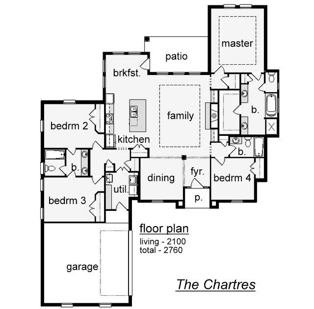 The chartres plan at build on your lot by reve inc in la for Build on your lot louisiana