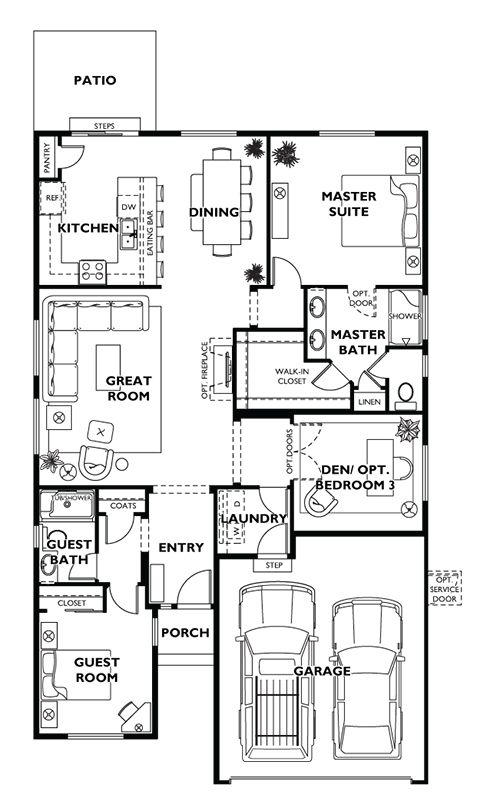 pebble beach plan at shea homes at jubilee in lacey