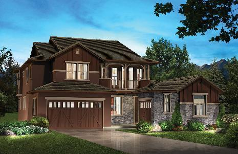 Highlands Ranch: BackCountry - Water Dance Collection by Shea Homes - Family in Denver Colorado