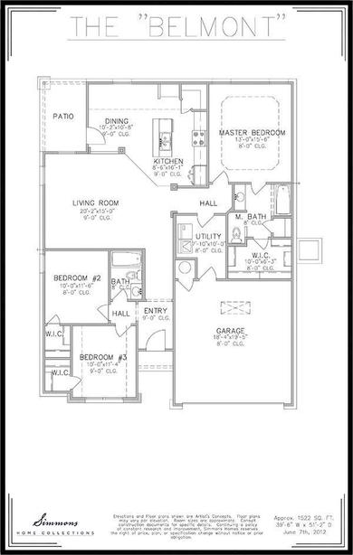 Belmont Floor Plan