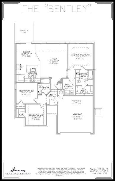 Bentley Floor Plan