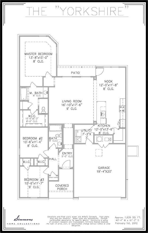 Yorkshire Floor Plan