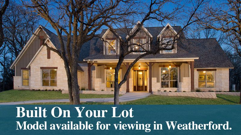 Unifamiliar por un Venta en Tilson Homes, Built On Your Lot In Weatherford - Breckenridge 951 I-20 West (Exit # 406) Weatherford, Texas 76087 United States