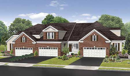 house for sale in Regency at Bowes Creek Country Club Active Adult Townhome Collection by Toll Brothers