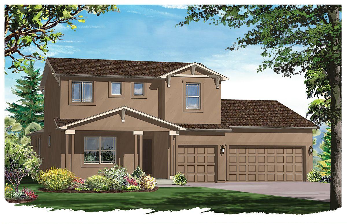 Vantage homes cordera massey ii 1090265 colorado for Modern homes colorado springs