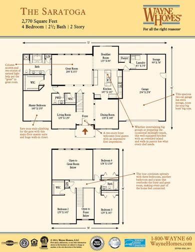 Saratoga Floorplan