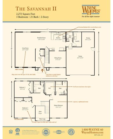 Savannah II Floorplan