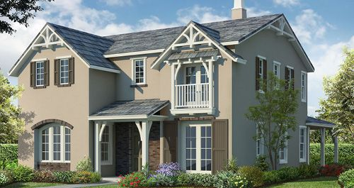Heritage at Hansen Village in Mountain House by Woodside Homes in Stockton-Lodi California