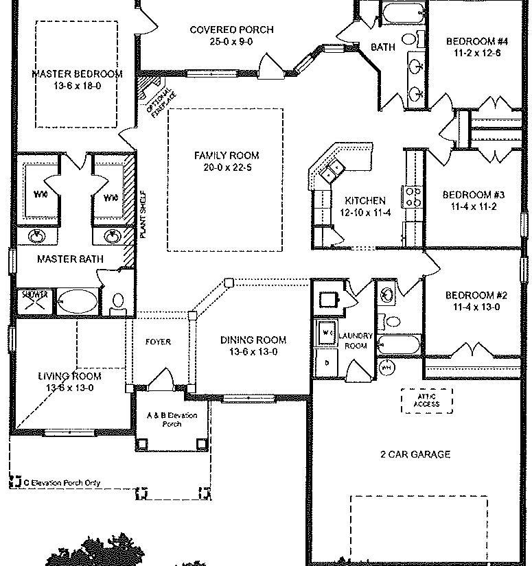Adams Home 2320 Floor Plan